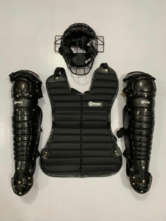 Arreos Catcher Beisbol Softbol Completos Comax Adulto Negro