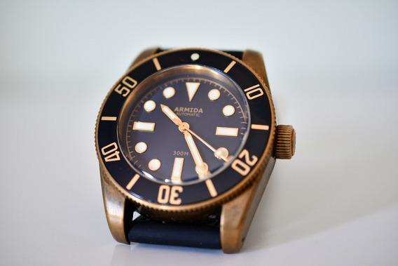 Relógio Diver Armida Bronze - Automático - Completo