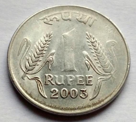 Moneda De India, 1 Rupee (rupia) 2003.
