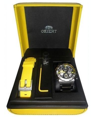 Relógio Orient Seatech Titânio Mbttc003 P1yx - Raridade