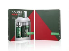 Kit Masculino Benetton Colors Man Green Corpo
