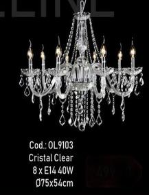 Lustre De Cristal De 8 Lâmpadas