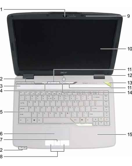 Notebook Acer 4520 P/amd Desmonado Ap.peças. Envio Td.brasil