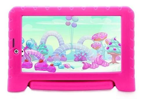"Tablet  Multilaser Kid Pad 3G Plus NB29 7"" 8GB rosa com 1GB de memória RAM"