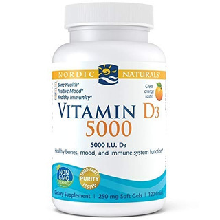 Nordic Vitamin D 3 5000 120 Cps. 250mg. Disponivel