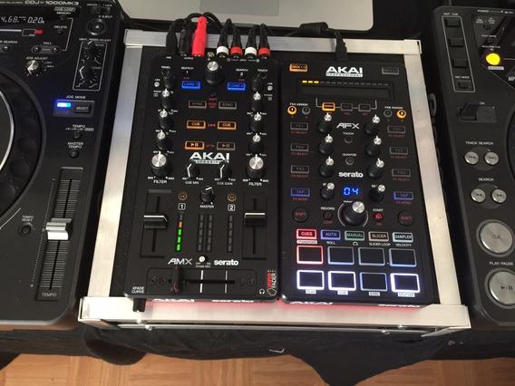 Mixer Amx Serato C/mini Controladora Afx Serato Akai Dj Midi