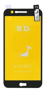 Película De Silicone Gel 5d Lg K10 2017 Preta