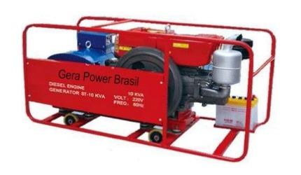 Grupo Gerador Aberto 21 Kva A Diesel 220v Trifásico Novo