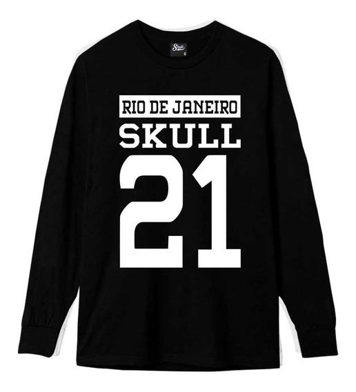 Blusa De Frio Exclusiva Rio De Janeiro 21 Skull Original