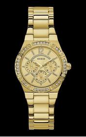 Relógio Guess Feminino Dourado Com Cristais 92662lpgsda1