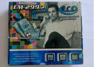 Telefone De Longo Alcance Eco Em-299 ( Sem Baterias)