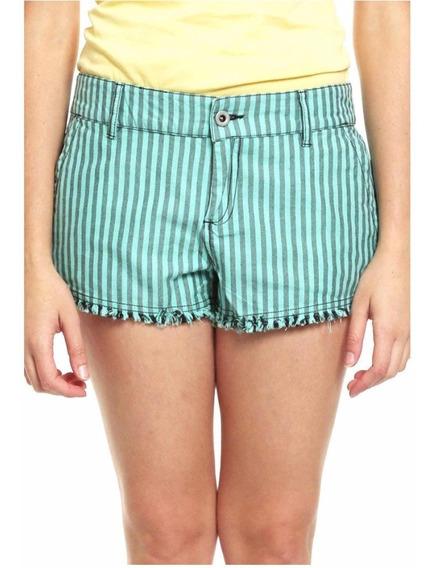 Dc Shoes Short Verde Para Mujer Talla 27