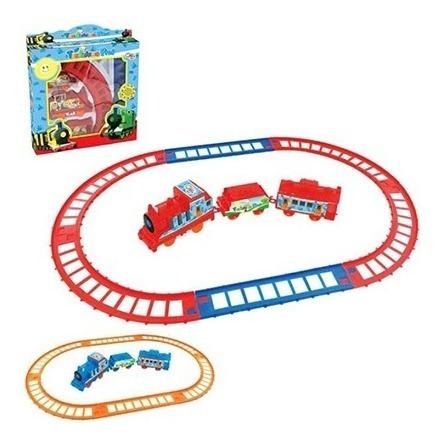 Locomotiva Trilhos Vagões Ferrorama Trem Brinquedo