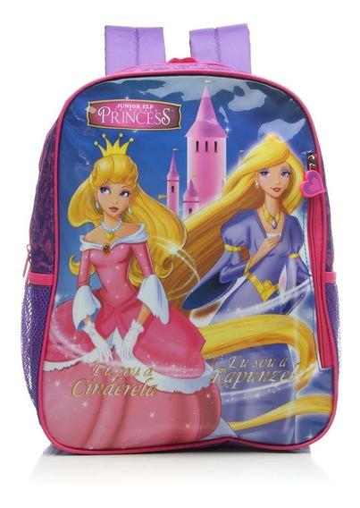 Mochila Luxcel Costa Princess Cinderela E Rapunzel