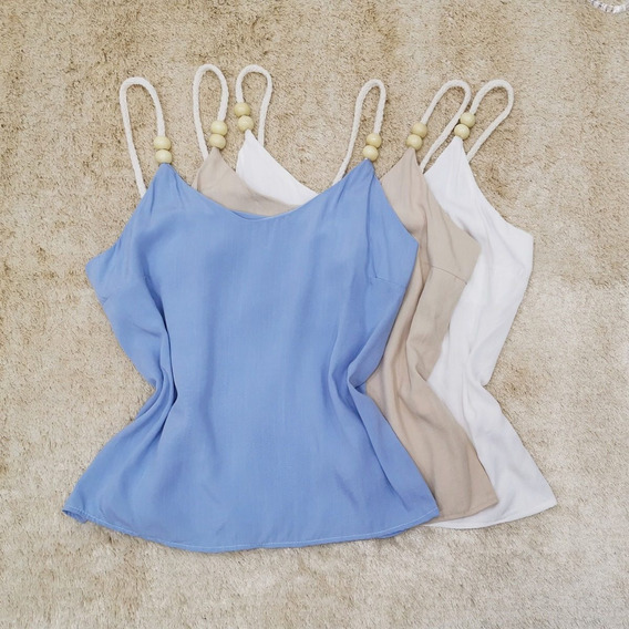 Regata Lisa Viscolinho Blusinha Blusa Feminina Camiseta Moda