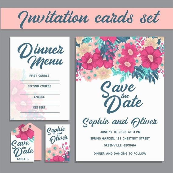 Invitacion Tarjeta Imprimible 15 Años Casamiento Floral M084