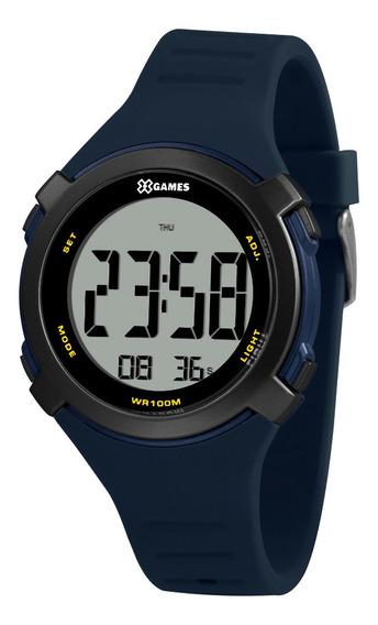 Relógio Masculino Digital Preto E Azul X-games Original + Nf