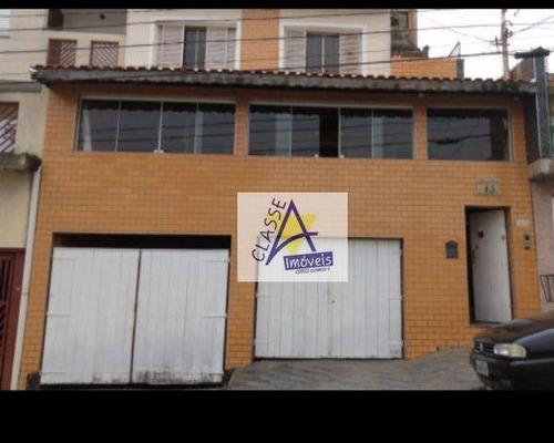 Sobrado Com 2 Dormitórios Para Alugar Por R$ 2.700/mês - Vila Cecília Maria - Santo André/sp - So0130