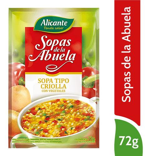 Alicante Sopas De La Abuela Criolla Con Vegetales X 72 Gr