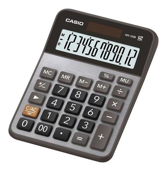 Calculadora De Mesa 12 Digítos Prata Mx-120b-s4-dc Casio