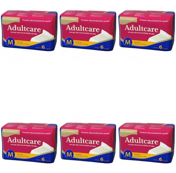 Adultcare Protetor Descartável De Colchão M C/6 (kit C/06)