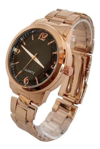 Relógio Feminino Luxo Rosê Blogueiras Da Moda Brilhante