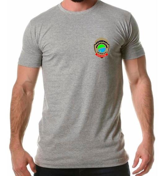 Camisa Masculina Polícia Civil Mato Grosso Do Sul Distintivo