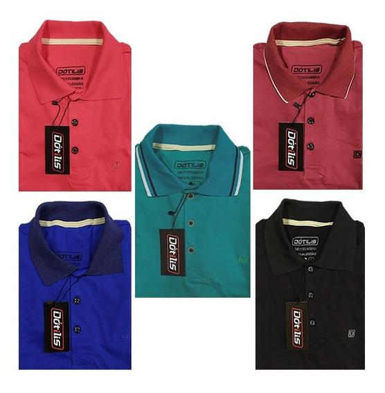 Camisa Gola Polo Masculinas-kit Com 10- P Ao Gg