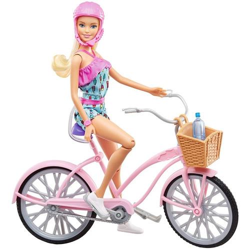 Imagen 1 de 2 de Muñeca Barbie Paseo En Bicicleta Mattel Djr54
