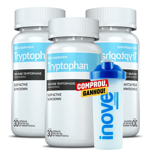 03 Tryptophan Inove 30 Cápsulas - Controle Da Ansiedade