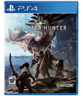 Monster Hunter World Ps4 Fisico Resellado Español
