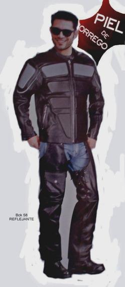 Conjunto Motociclista Piel Borrego Caballero Reflejante