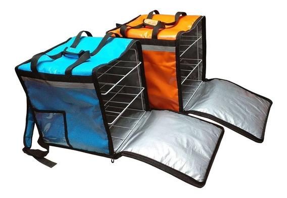 Mochila Termica Delivery Premium Lavable Con Rejilla