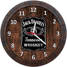 Relógio De Parede Quadro Tampa De Barril Cerveja Bebida W016