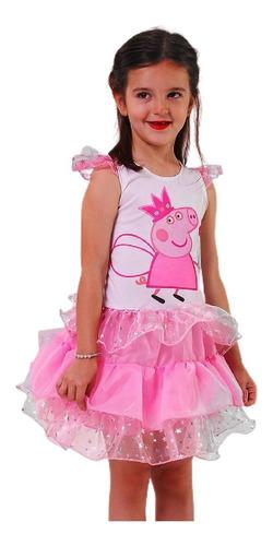 Disfraz Peppa Pig Vestido Con Estrellitas