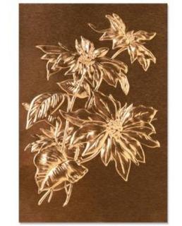Sizzix - Placa Para Emboss 3d - Tema Folhas - Poinsettia By