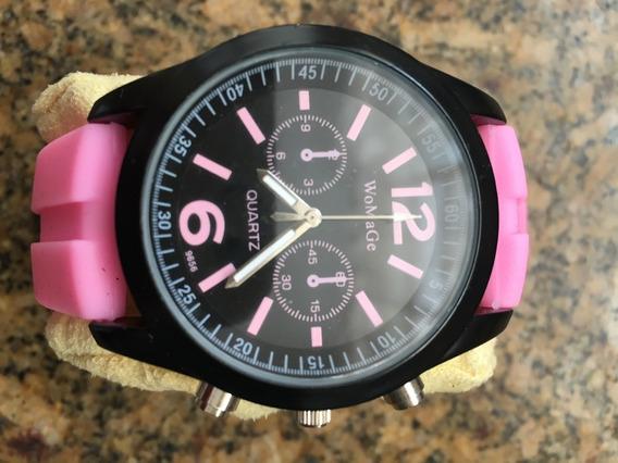 Relógio Womage Quartz - Pronta Entrega