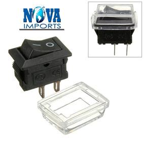 10x Mini Chave Tic Tac Quadrada 2 Polos Proteção Para Água