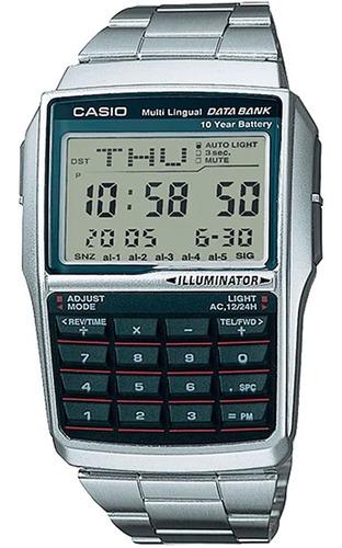 Relogio Casio Dbc 32d Aço 25 Databank Calculadora Original