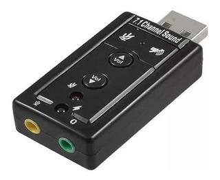 Tarjeta De Sonido Usb 3d 7.1 Adaptador Audio