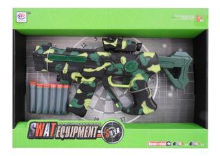 Pistola Camuflada Verde Lanza Dardos c/luz Y Sonido 1748617