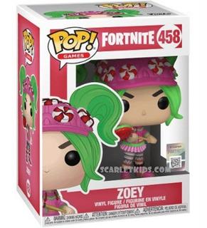 Funko Pop Fortnite Zoey 458 Original Fortnite Scarlet Kids