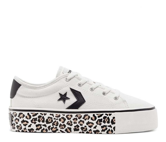 Zapatillas Converse Star Replay Plataforma Blanco Animal