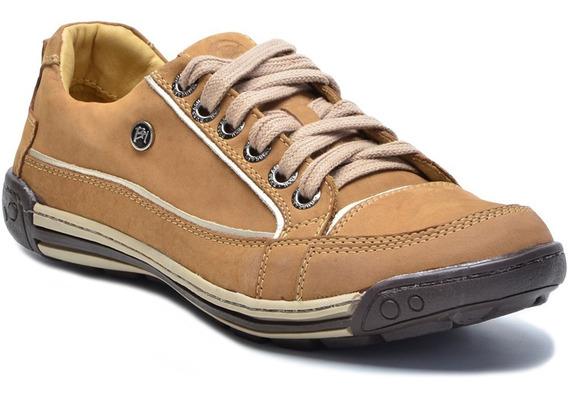 Sapato Sapatênis Casual Em Couro Porshe Bmbrasil 114/02