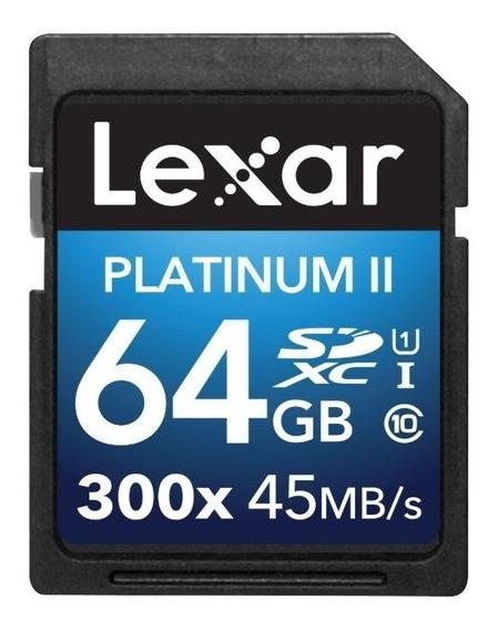 Tarjeta De Memoria Lexar 64gb Sdxc 300x Uhs-i Clase 10 Plati