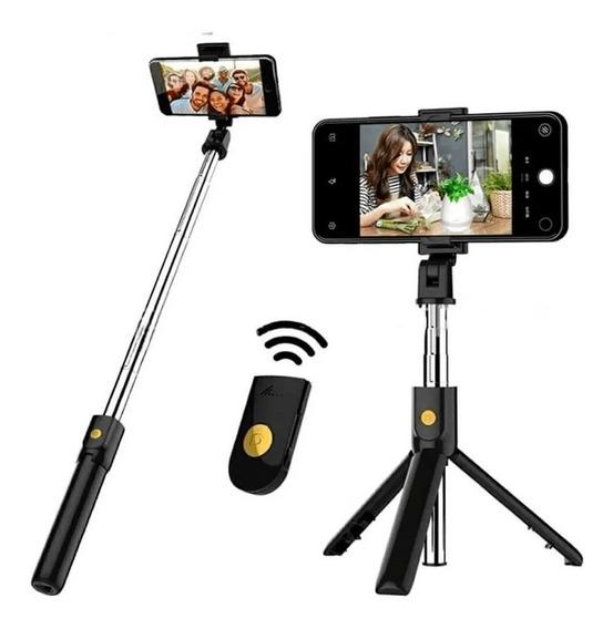 Pau De Selfie Bluetooth Recarregável Com Tripé Tomate Mzp109