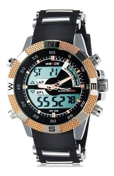 Relógio Masculino Weide Esporte Wh-1104 Dourado