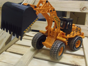 Trator Escavadeira Controle Remoto Bateria Recarregável 60cm