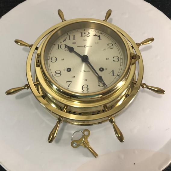 Hermoso Reloj Howard Miller Timon Marinero Alemán Vintage