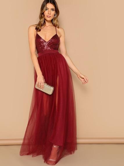 Vestido De Fiesta Largo Importado Eventos Casamiento 15